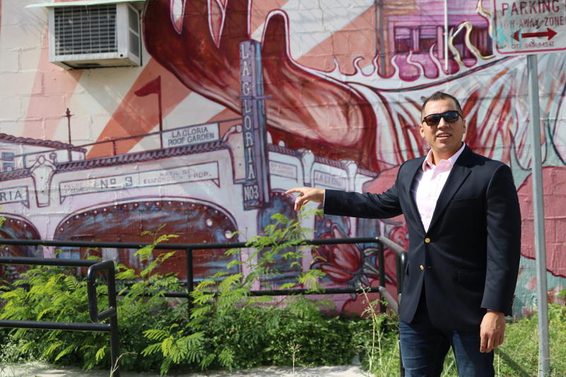 Chris Carrillo, pictured here in the West Side, lived in 16 different homes in his first 16 years of life in his native San Antonio.