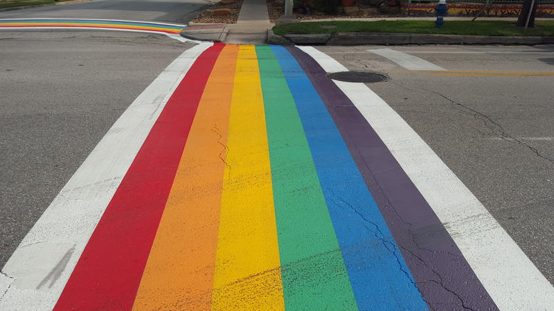 Rainbow crosswalks were installed in Houston last week. It was the first city in Texas to do so.