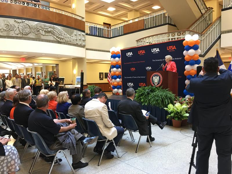 A Crowd Of Dignitaries Faculty Administrators And Students Gathered At UTSA June 9 2017 To Make The Groundbreaking On New Science Engineering