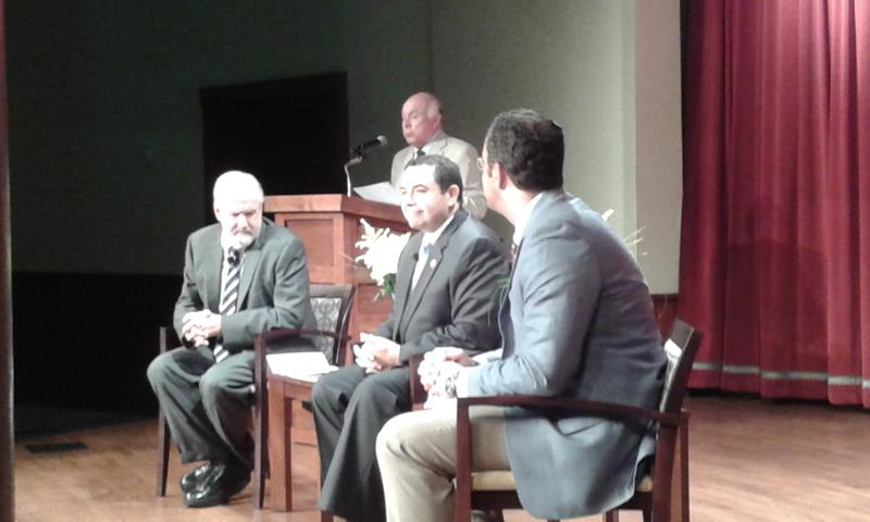 Congressmen Henry Cuellar and Will Hurd discuss NAFTA re-negotiations with moderator Rick Casey of KLRN