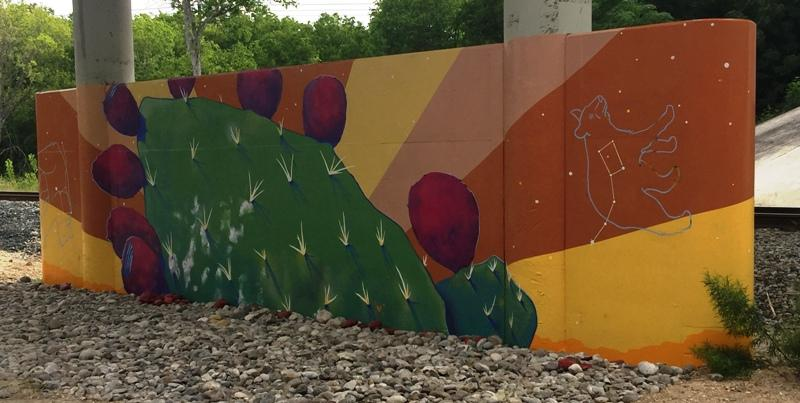 Summer mural with nopal and black bear