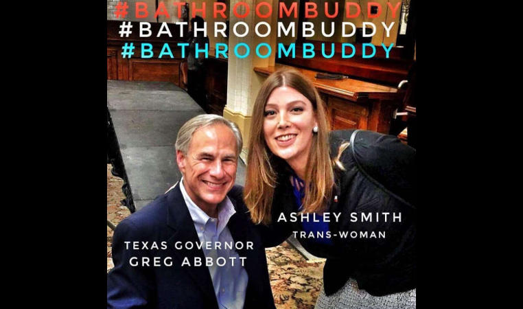 San Antonio Trans Womanu0027s Viral Photo With Governor Abbott Spotlights U0027 Bathroom Billu0027
