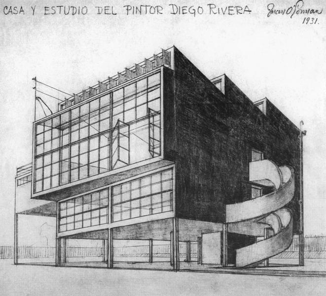 O'Gorman's design for Frida Kahlo/Diego Rivera home