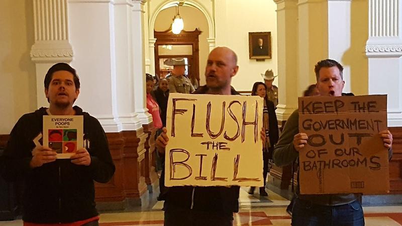 Anti-Transgender Bathroom Protestors At The Capitol