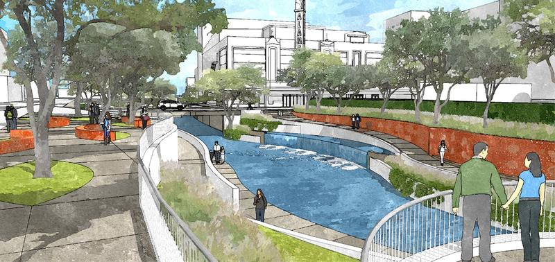 Artists' rendering of the new San Pedro Creek project.