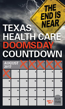 "The Texas Medical Association put out what it called the ""Texas Health Care Doomsday Countdown"" on August 7, 2017 to press the state legislature to make sure the Texas Medical Board keeps functioniong."
