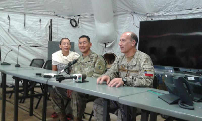 Major General K.K. Chinn of U.S. Army South (left) and General Andres Fuentealba of the Chilean Army (right)