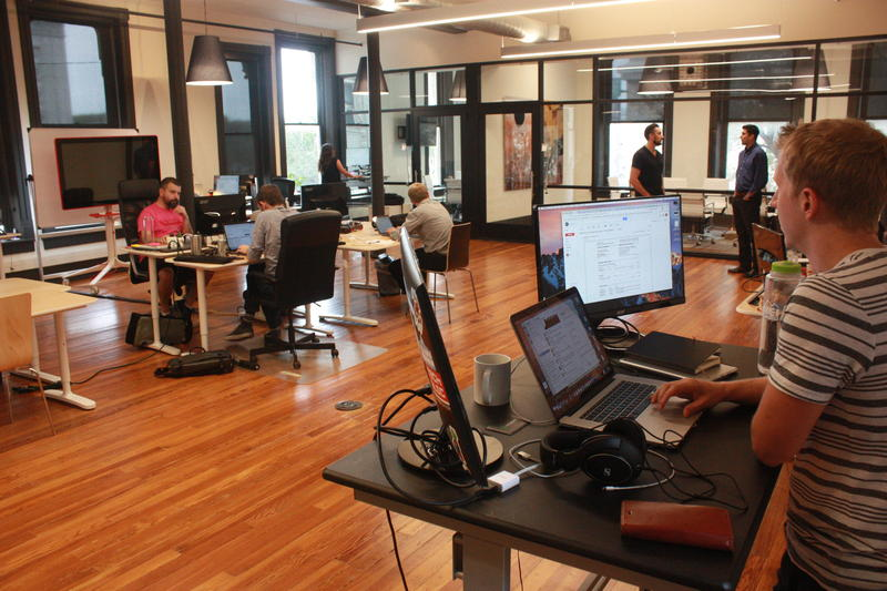 Assembla employees work out of the largest office area in the new Scaleworks, which is 19000 square feet. The third floor will be completed in the next three months.