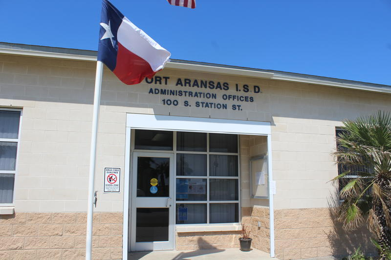 The offices of Port A ISD outside the district's high school
