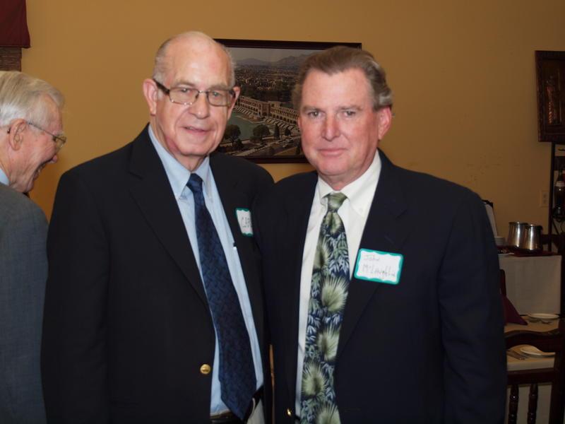 NPR's Carl Kassell and John McLaughlin, in 2010