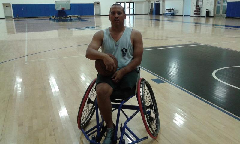 MSgt Brian Williams on the court at Lackland AFB