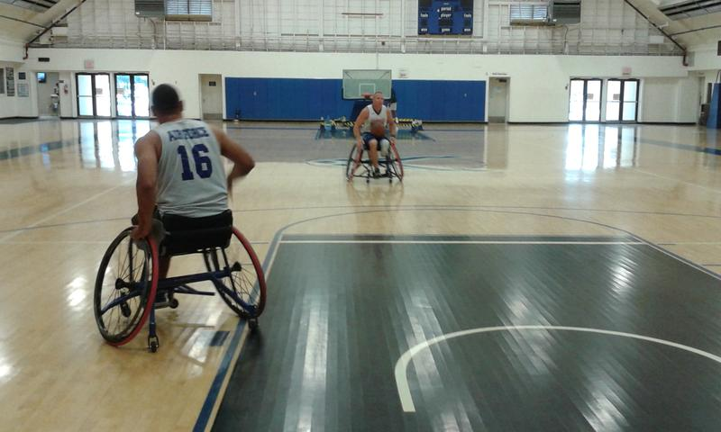 MSgtBrian Williams practices with teammate, SSgt Ben Seekel