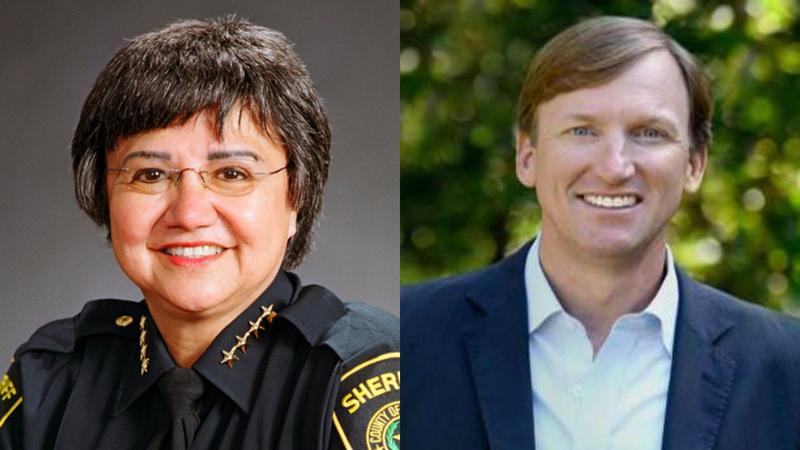 Dallas County Sheriff Lupe Valdez, left, and Andrew White are expected to be the top Democrats in the upcoming gubernatorial race.