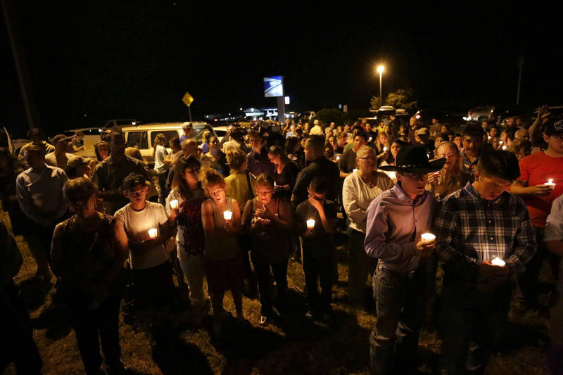 A candlelight vigil for the 26 people killed in a shooting at a church in Sutherland Springs.