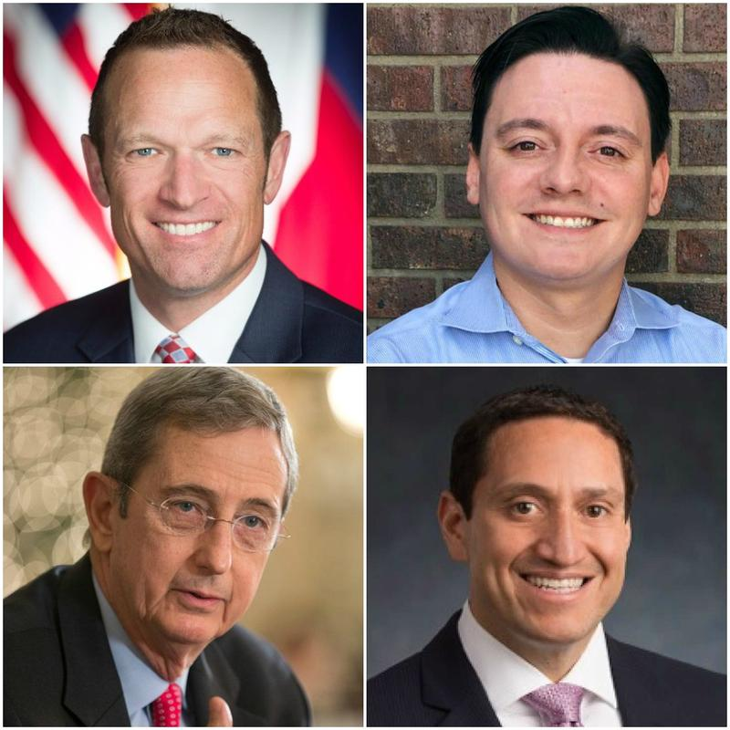 The 2018 primaries are in March. Candidates to watch include, from top left, Jason Isaac; Rick Trevino; Jerry Patterson, bottom left; and Trey Martinez Fischer.