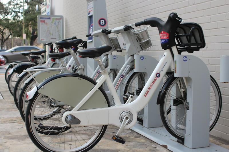 San Antonio B-Cycle currently uses a system of docked bikes that can be checked out and re-docked at another station when the rider is done.