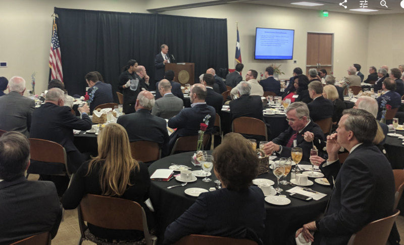 The Federal Reserve Bank of Dallas released its economic outlook for 2018 at a luncheon at its San Antonio office.