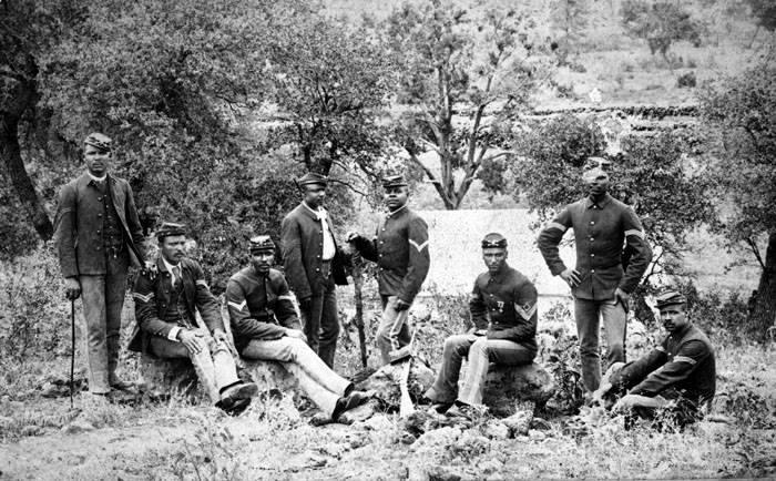 archival photo of Buffalo Soldiers