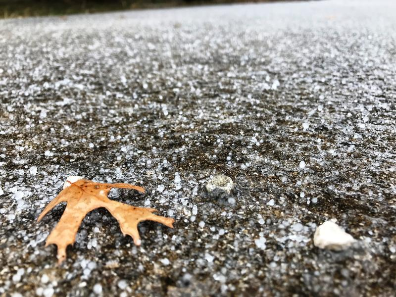 Ice covers the ground outside Boerne northwest of San Antonio