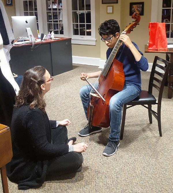 Maggie Faultless works with Jonah Quintana