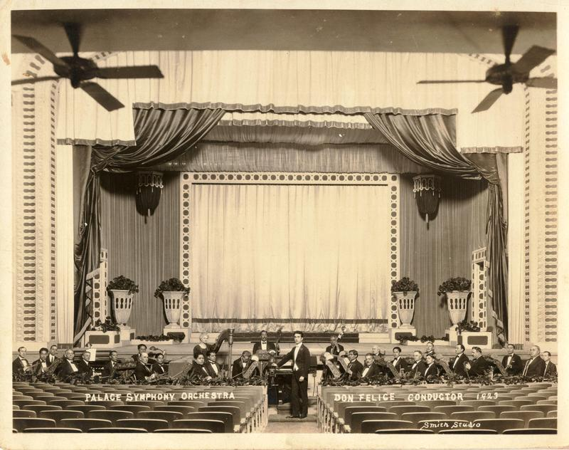Cenobio Hernandez's orchestra at the Palace Theater