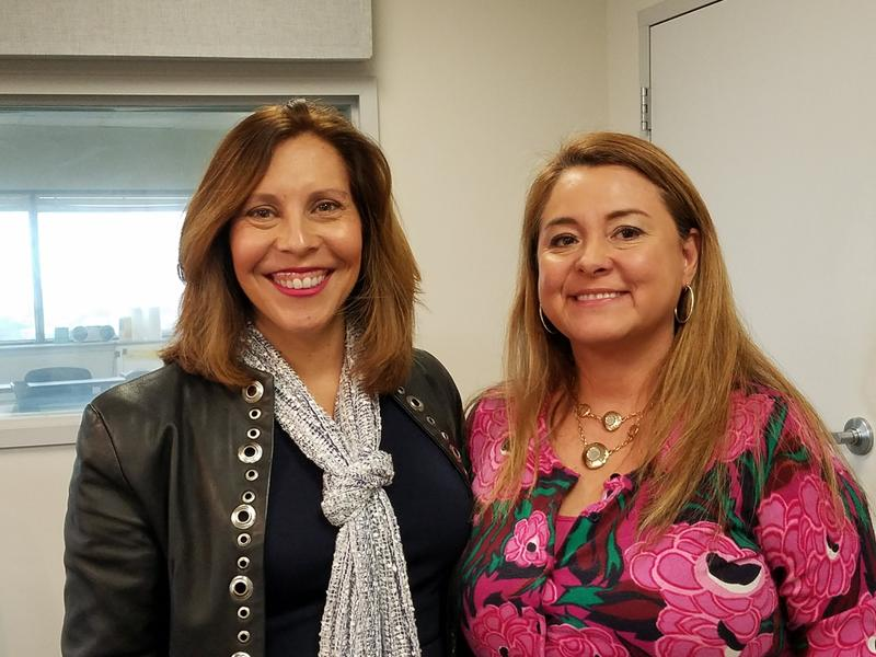District 5 Councilwoman Shirley Gonzales, left, and Victoria Salas of Family Service Association