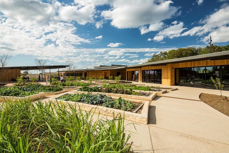 Herb Garden and classrooms, San Antonio Botanical Garden