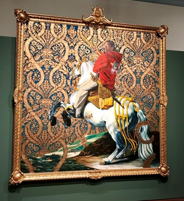 "Kehinde Wiley's ""Equestrian Portrait of the Count Duke Olivares"" from the Rubell Family Collection."