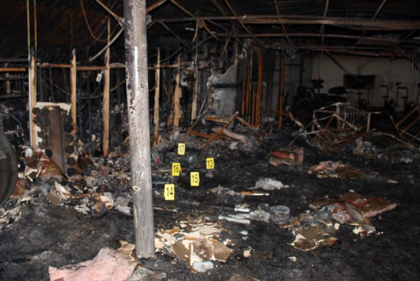 Interior of Spartan Box Gym, where firefighter Scott Deem was killed.