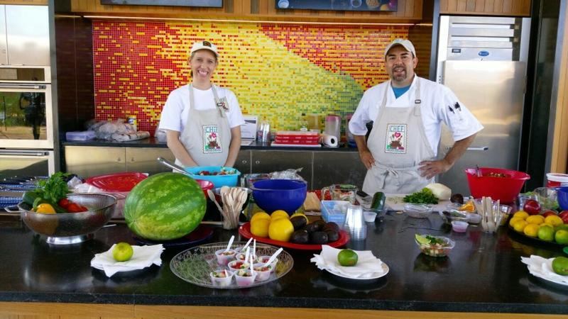Chef Dave Terrazas on the right
