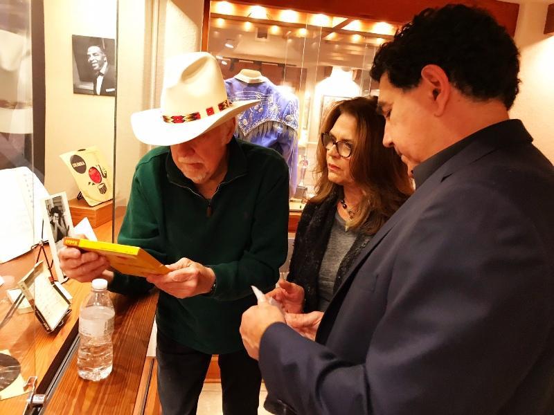 Jerry Jeff Walker, wife Susan and Hector Saldaña