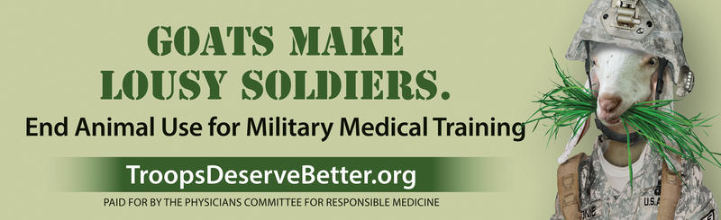 Billboard messaging from the Physicians Committee for Responsible Medicine.