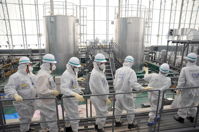 Inspectors from the International Atomic Energy Agency inspect Fukushima Daiichi efforts