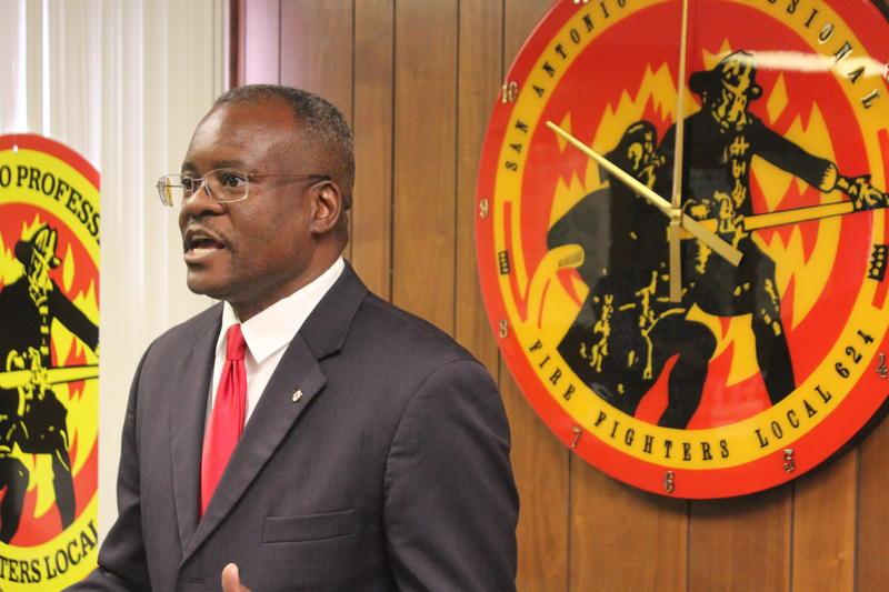 San Antonio fire union President Chris Steele