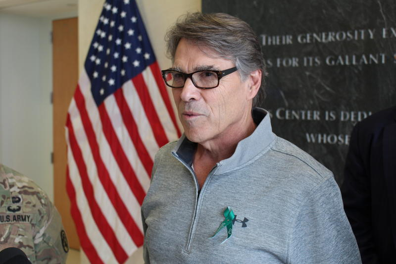 U.S Secretary of Energy Rick Perry at Brooke Army Medical Center.