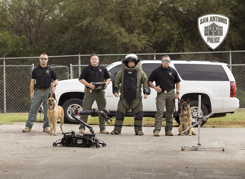 Members of SAPD's bomb squad.