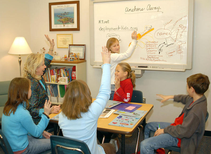 School counselors teach students coping methods and help them work through their emotions and behavior.
