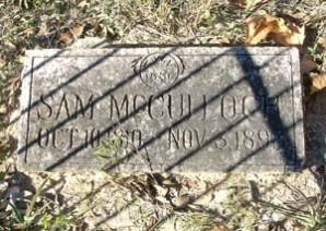 Grave site of Samuel McCulloch, an African-American landowner in Bexar County, and the first person injured in the battle for Texas Independence