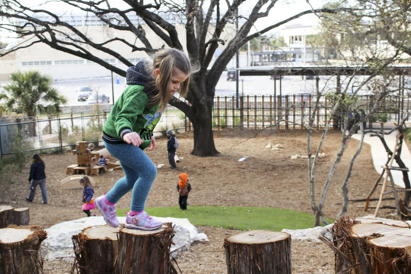 Zoo School students play at the private pre-k's new location on its opening day in January, 2018.