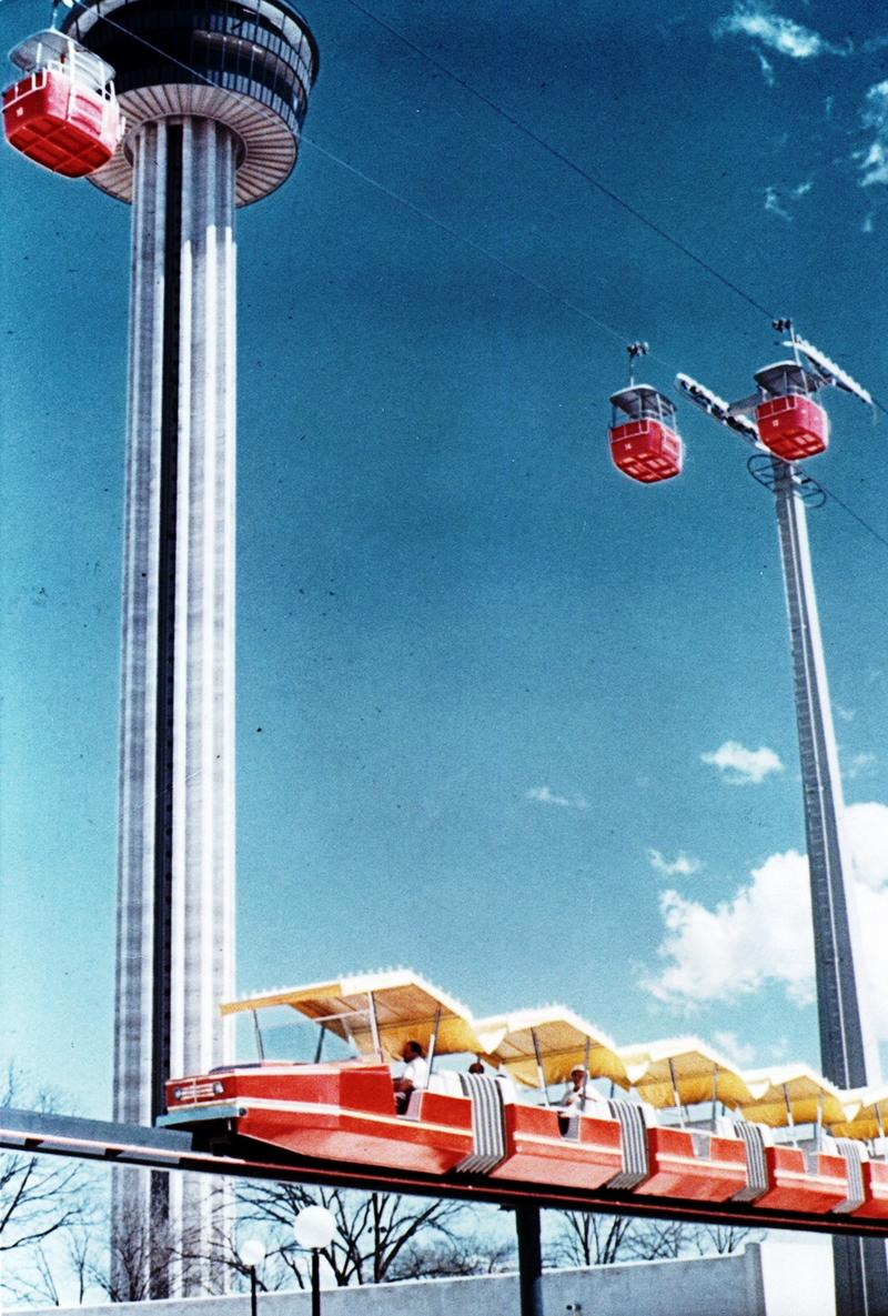 Tower of the Americas, the Monorail and the Skyride