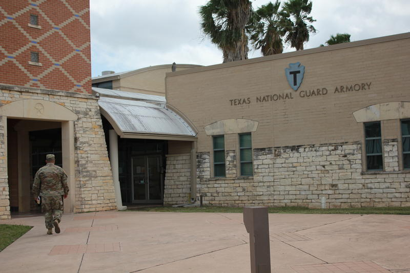The Weslaco National Guard Armory, a staging area for troops deploying along the southwest border.