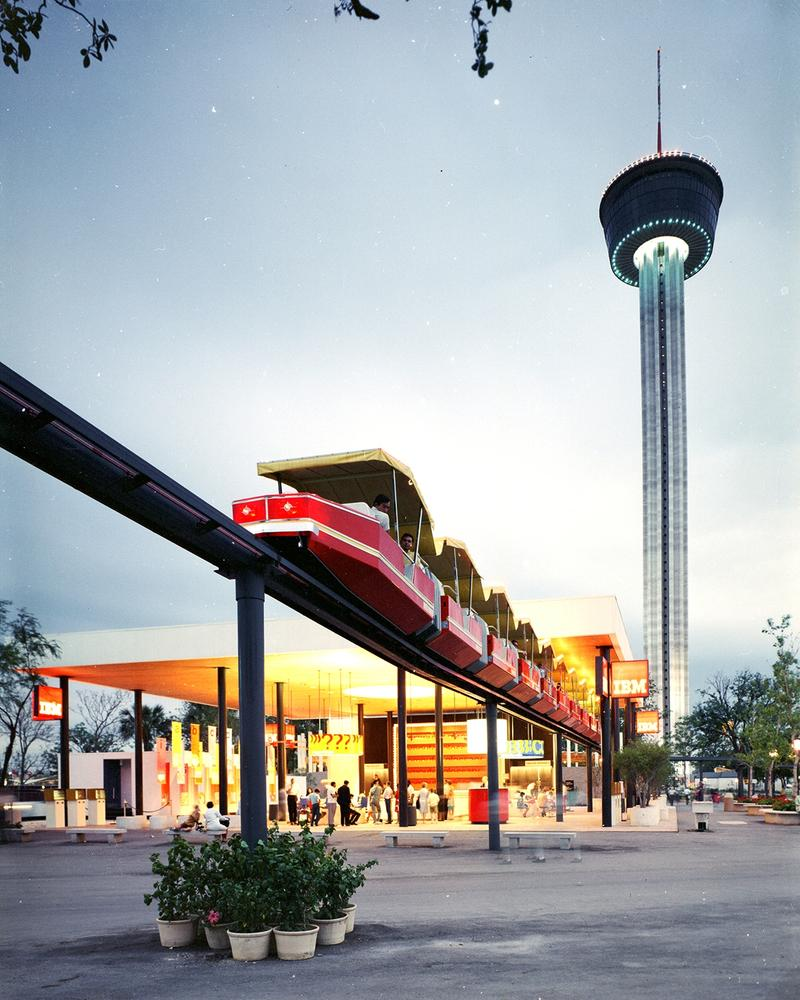Monorail and Tower of the Americas