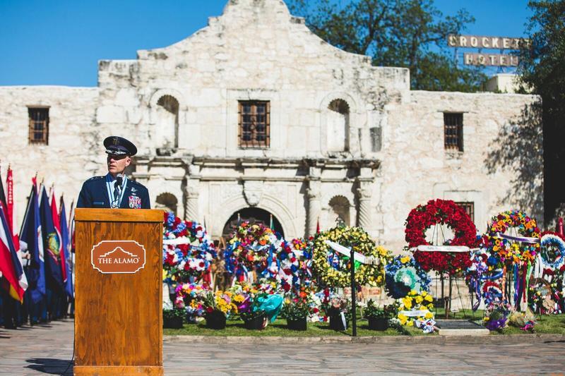 Fiesta ceremony at the Alamo