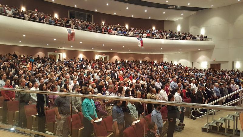 Naturalization ceremony at Edgewood ISD School of the Performing Arts