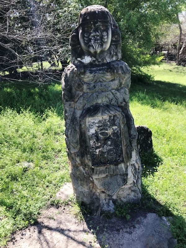 A moon goddess statue.