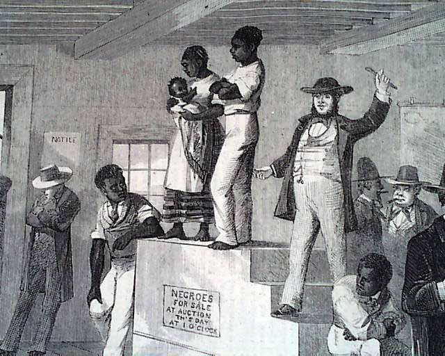 Slave auction in Virginia, 1861