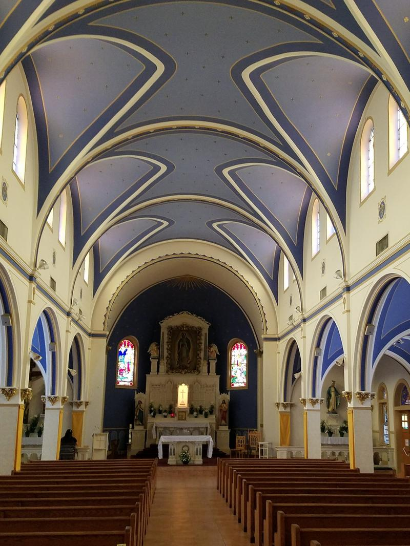 Interior of Our Lady of Guadalupe Church