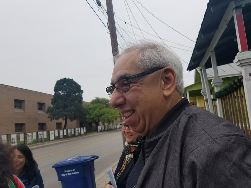 Javier Sanchez, leader of the walking tour of Westside San Antonio.