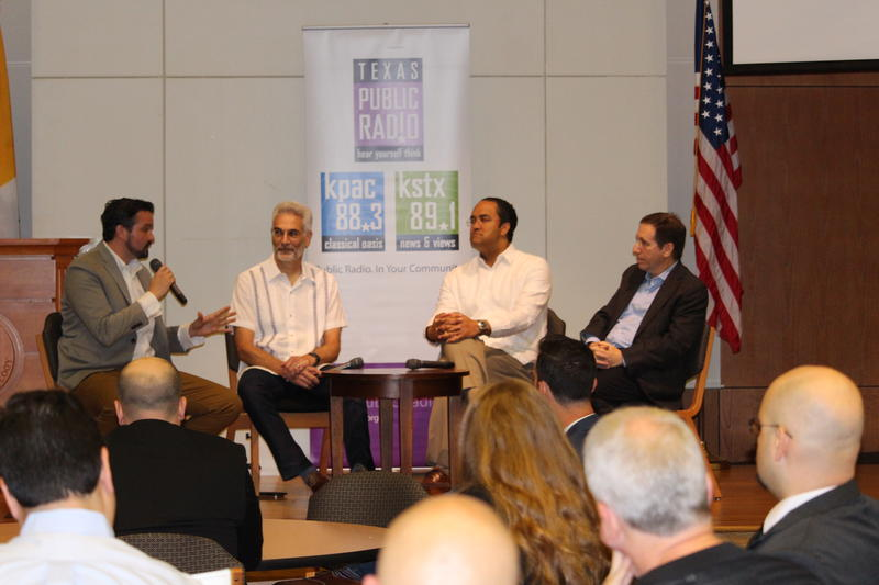 From Left To Right, Paul Flahive, Bob Gliechauf, Rep. Will Hurd and Joseph Krull