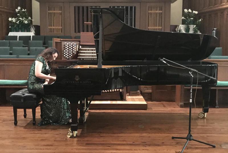 Martina Filjak performs at Laurel Heights UMC on April 10, 2018.